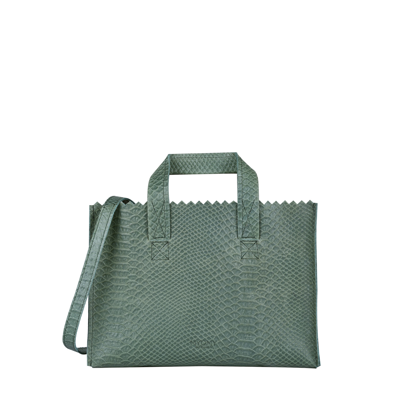 MY PAPER BAG Mini handbag cross-body – anaconda sea green