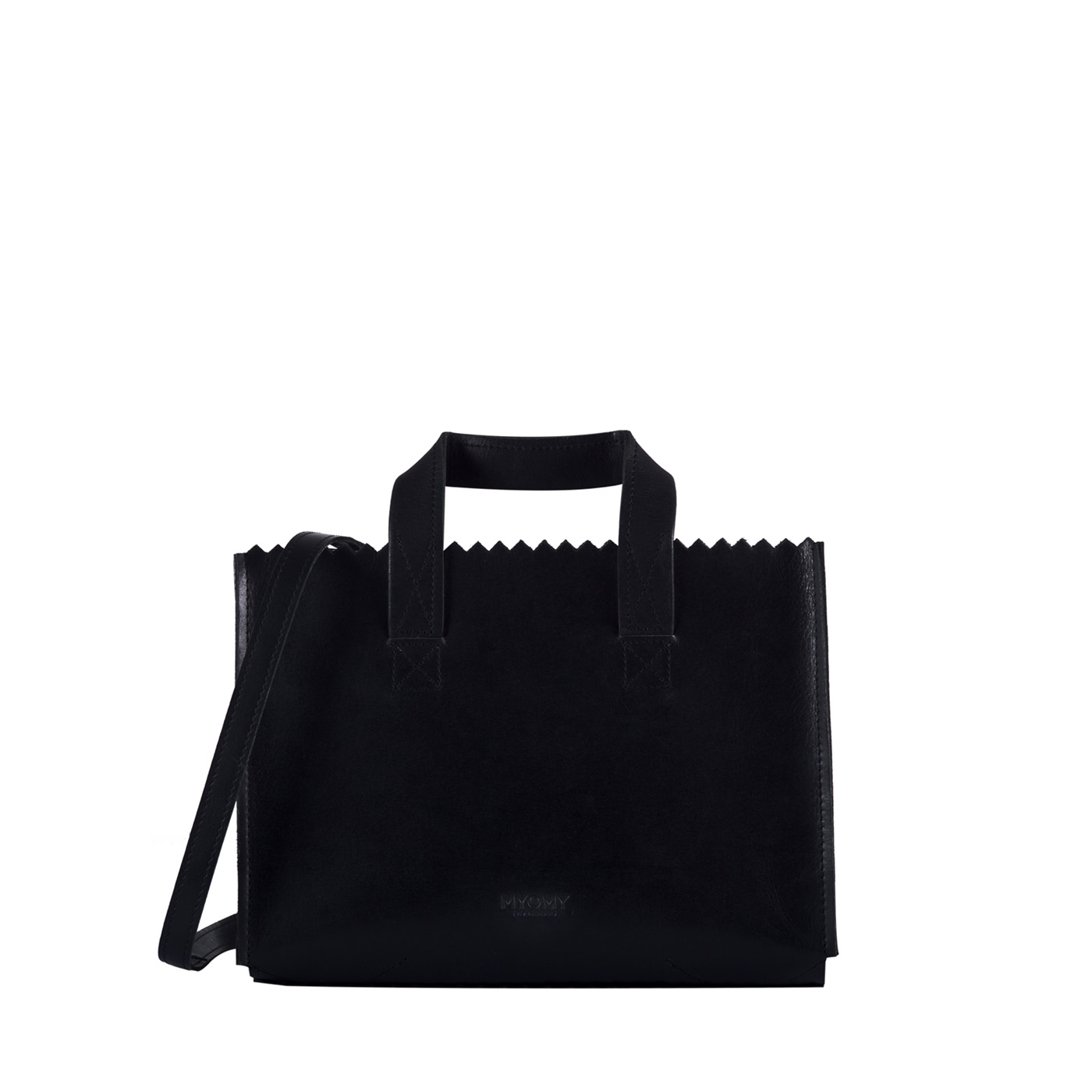 MY PAPER BAG Mini handbag cross-body  – hunter waxy black
