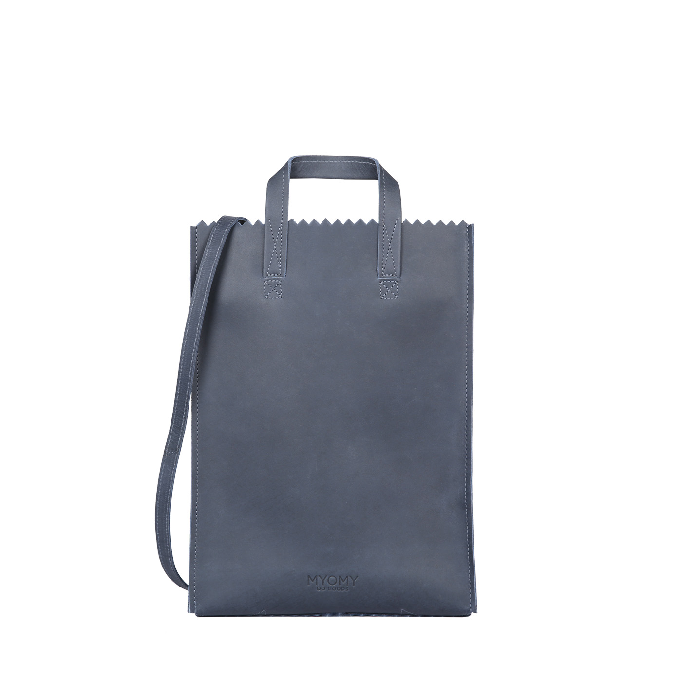 MY PAPER BAG Handy short handle – hunter navy blue