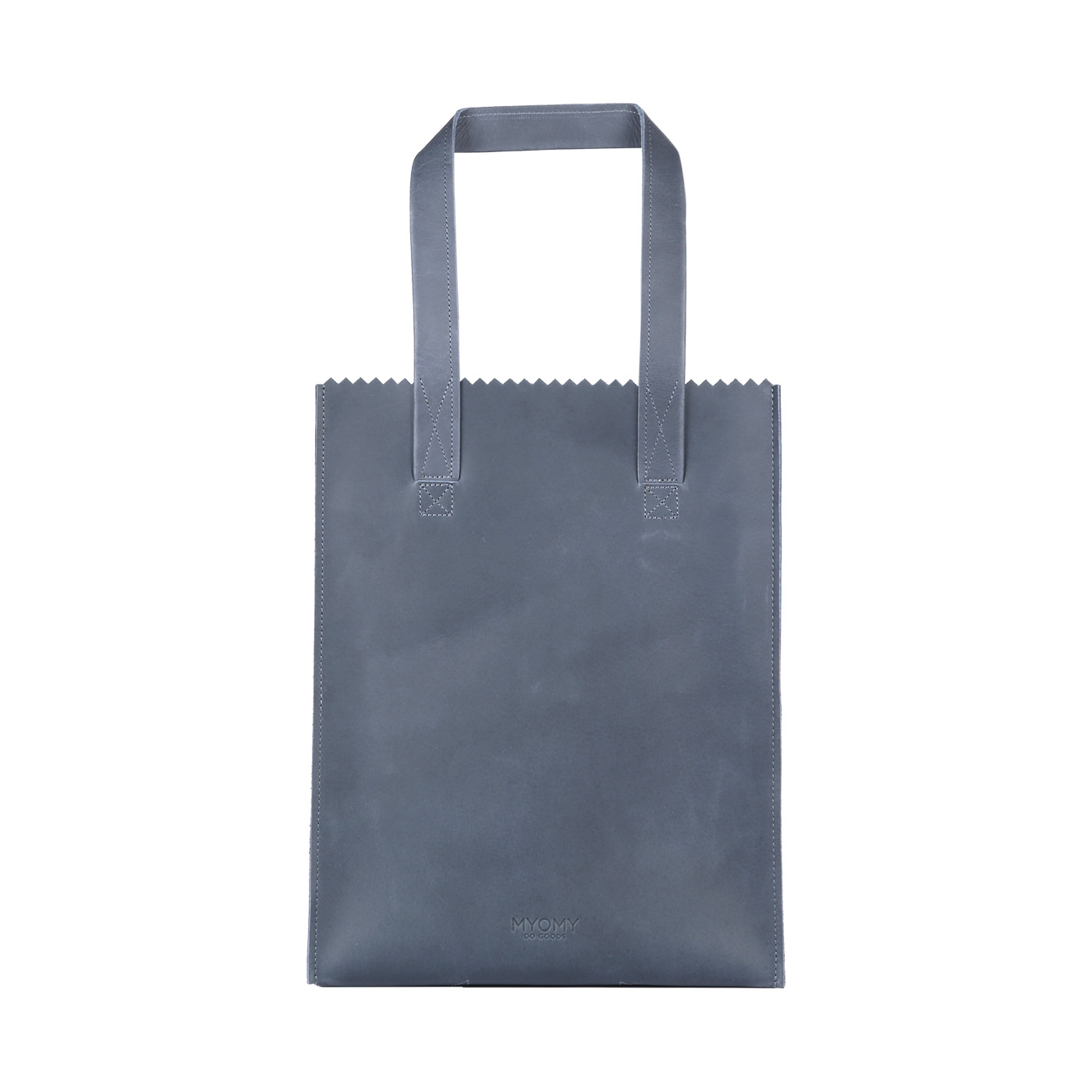 MY PAPER BAG Long handle zip – hunter navy blue