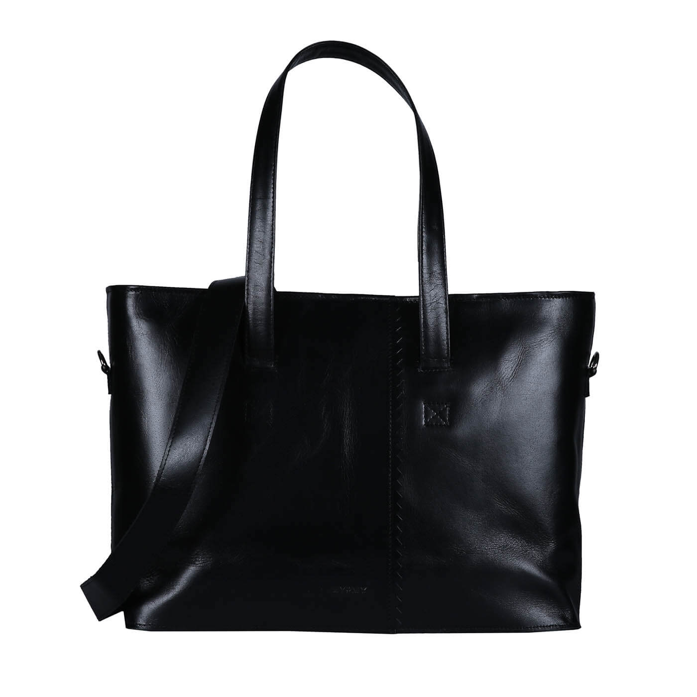 MY PAPER BAG Wrapped Workbag - hunter waxy black