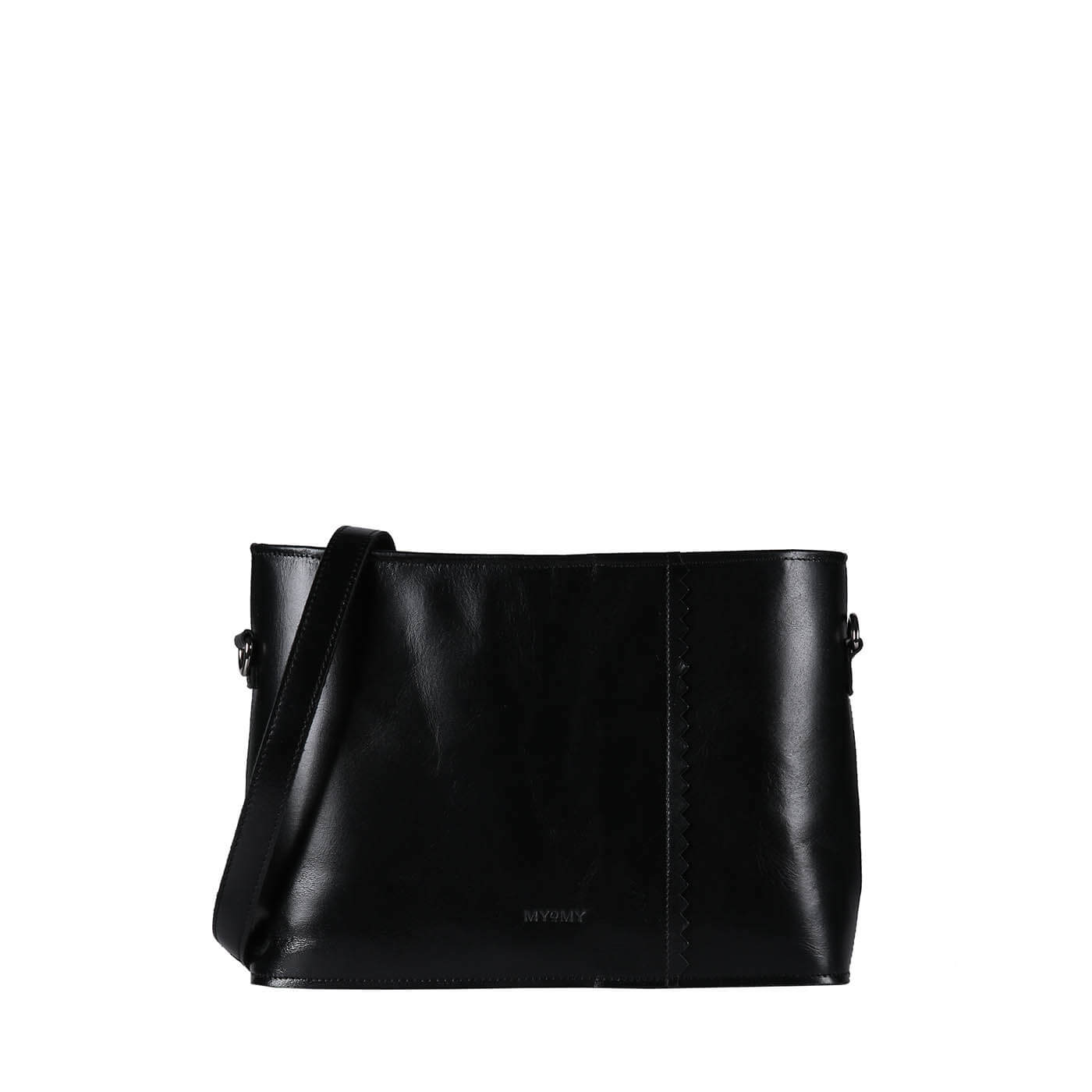 MY PAPER BAG Wrapped cross-body - hunter waxy black