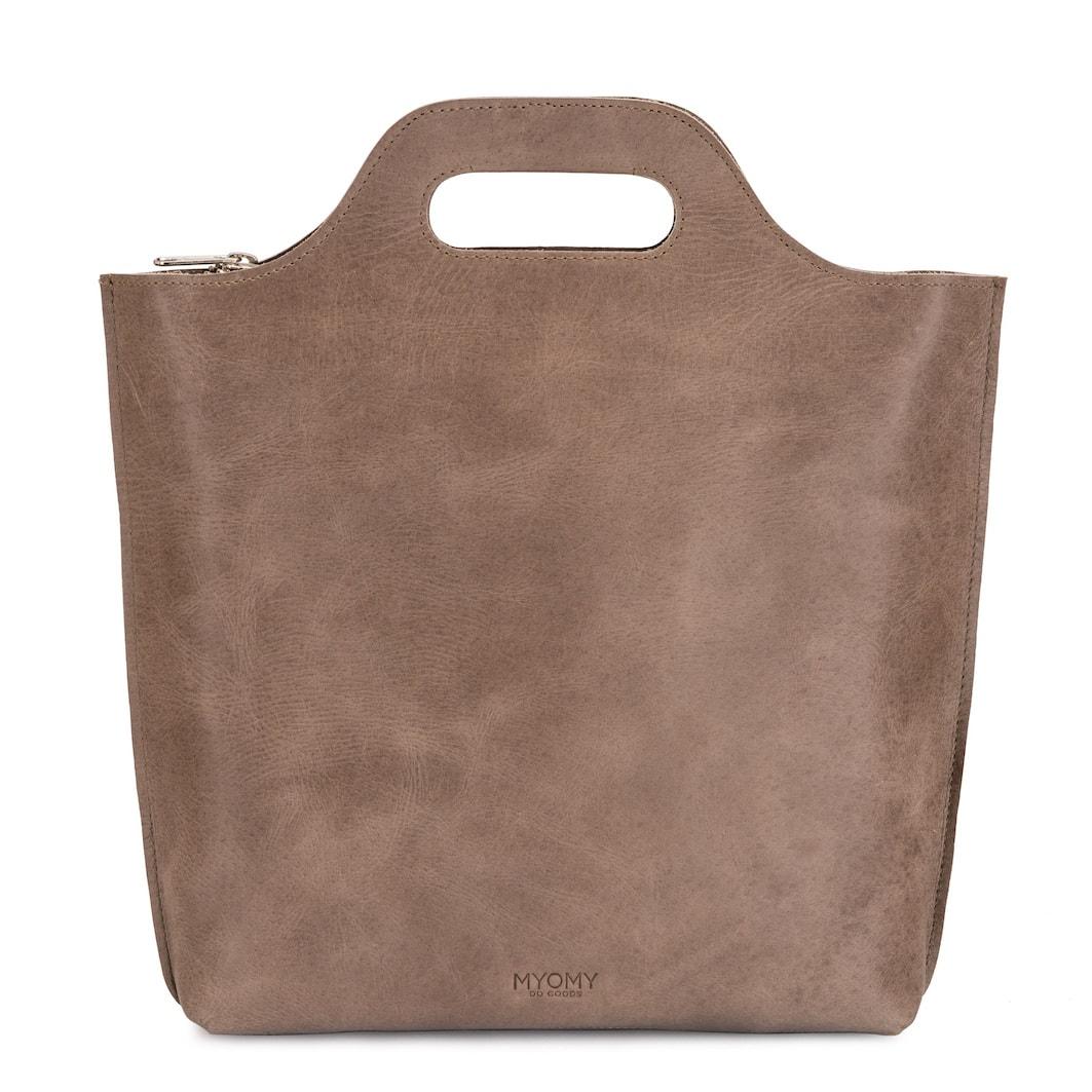 MY CARRY BAG Back bag medium - hunter waxy taupe