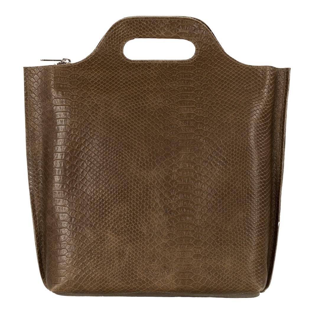 MY CARRY BAG Back bag medium - anaconda taupe
