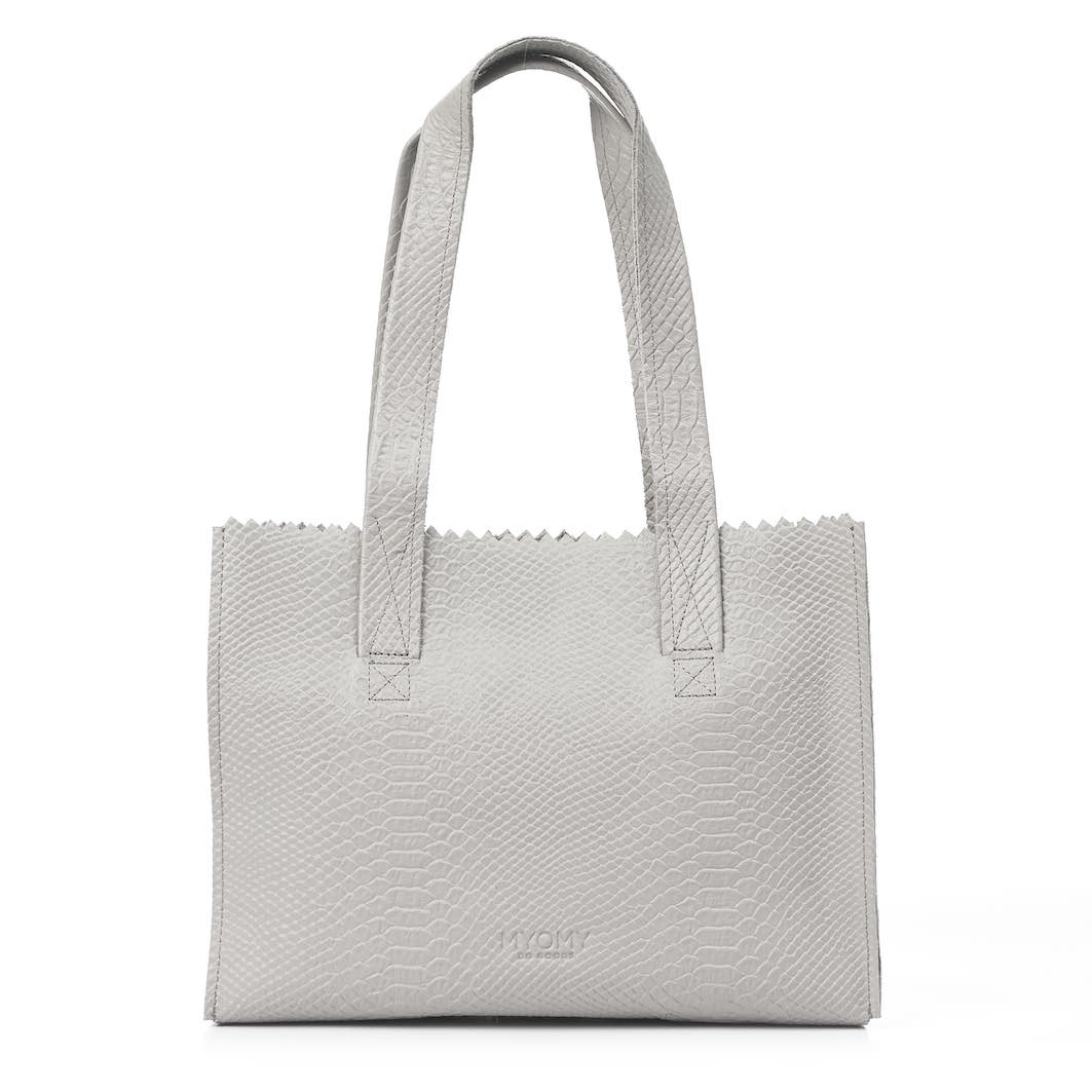 MY PAPER BAG Handbag – anaconda grey
