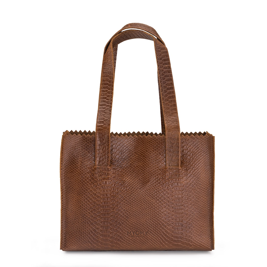 MY PAPER BAG Handbag - anaconda brandy
