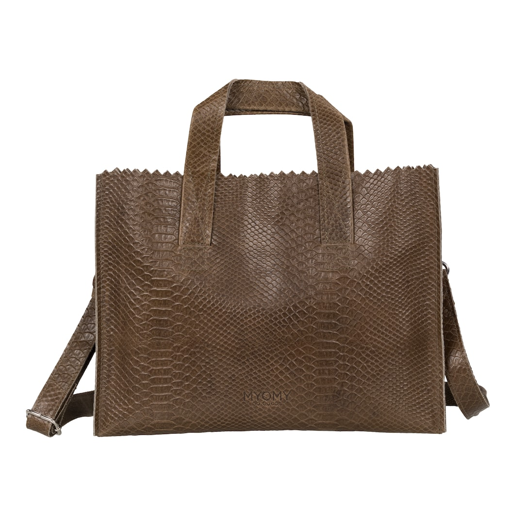 MY PAPER BAG Handbag cross-body – anaconda taupe