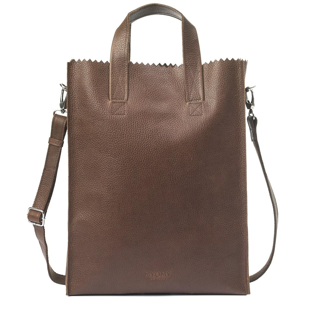 MY PAPER BAG Short handle cross-body – rambler brandy