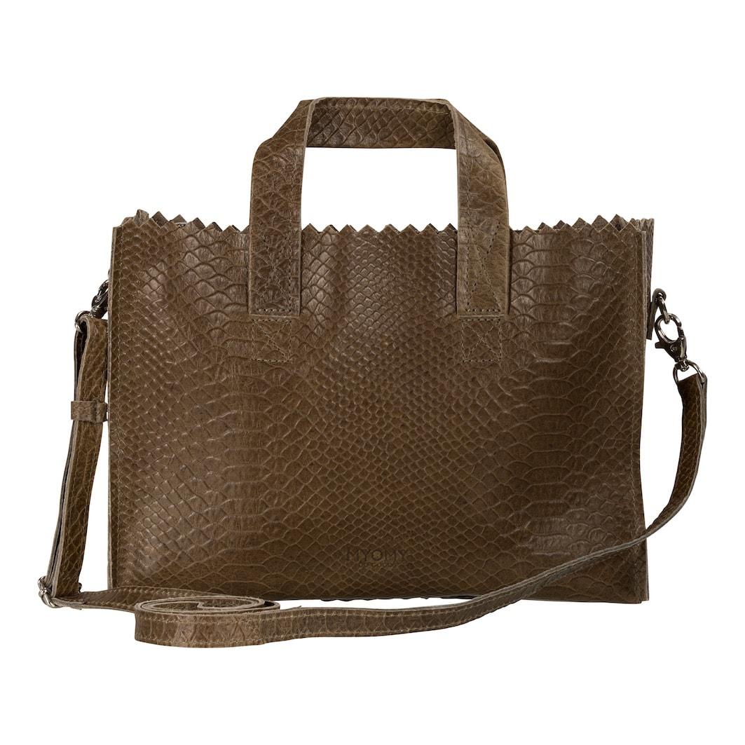 MY PAPER BAG Mini handbag cross-body  – anaconda taupe