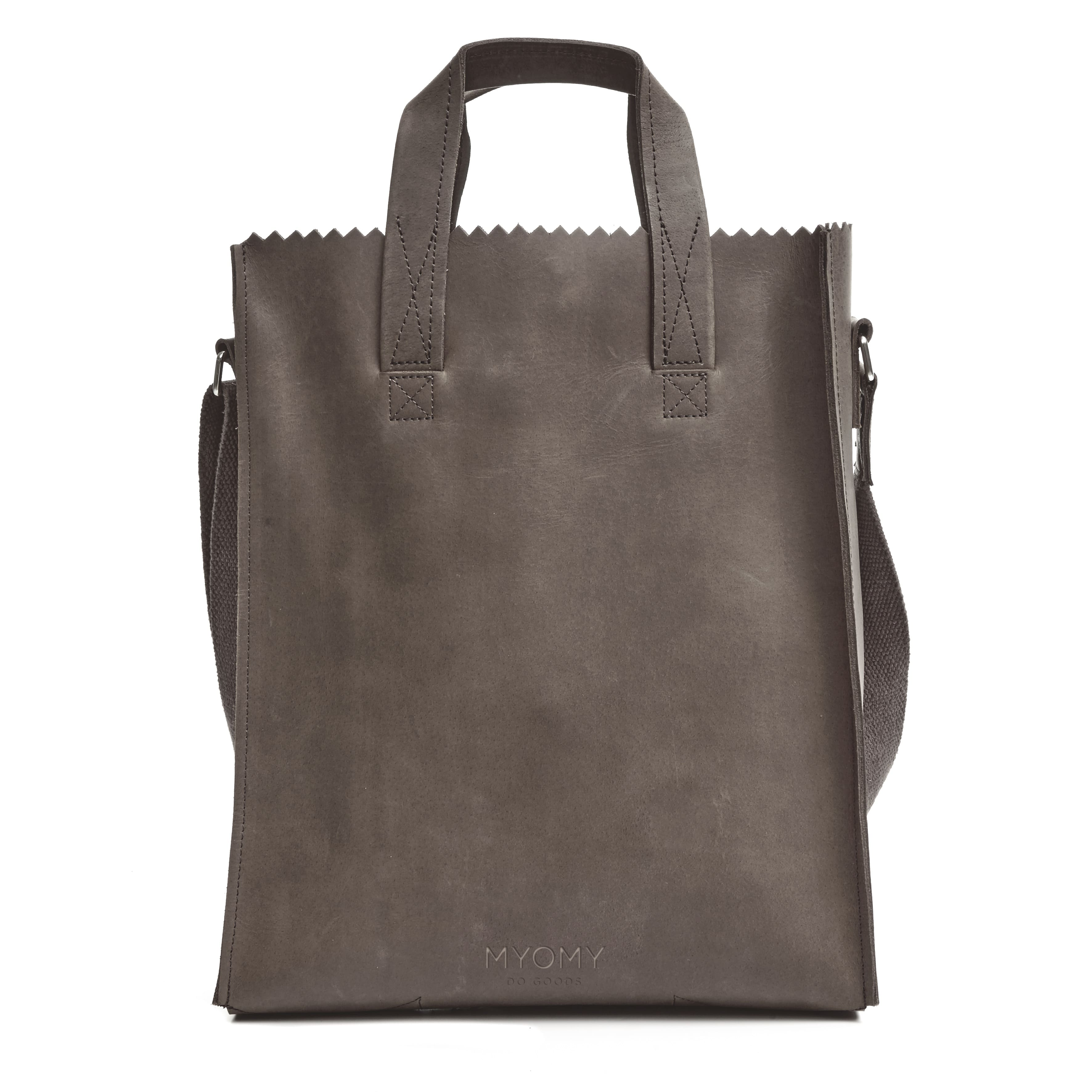 MY PAPER BAG Short handle cross-body – hunter waxy taupe