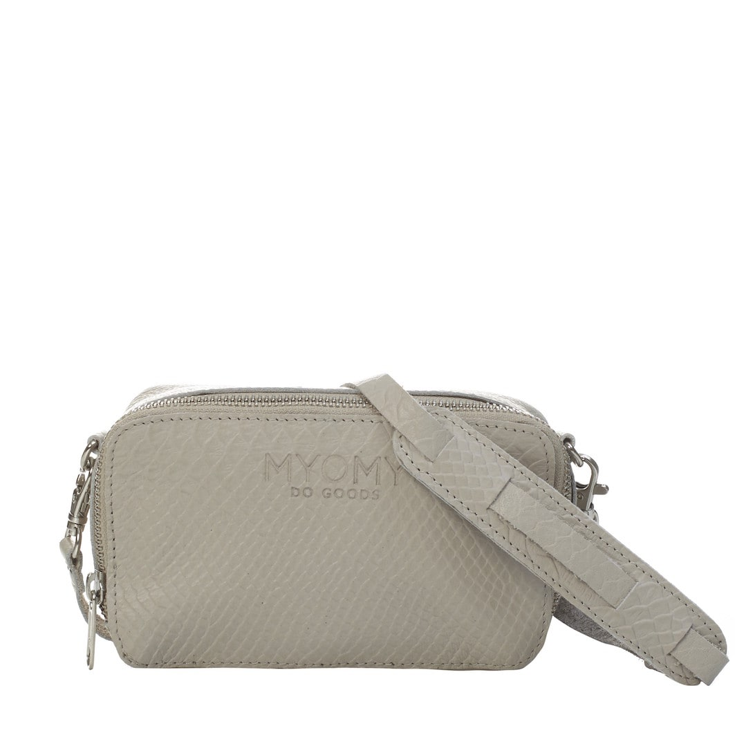MY BLACK BAG Boxy – anaconda grey
