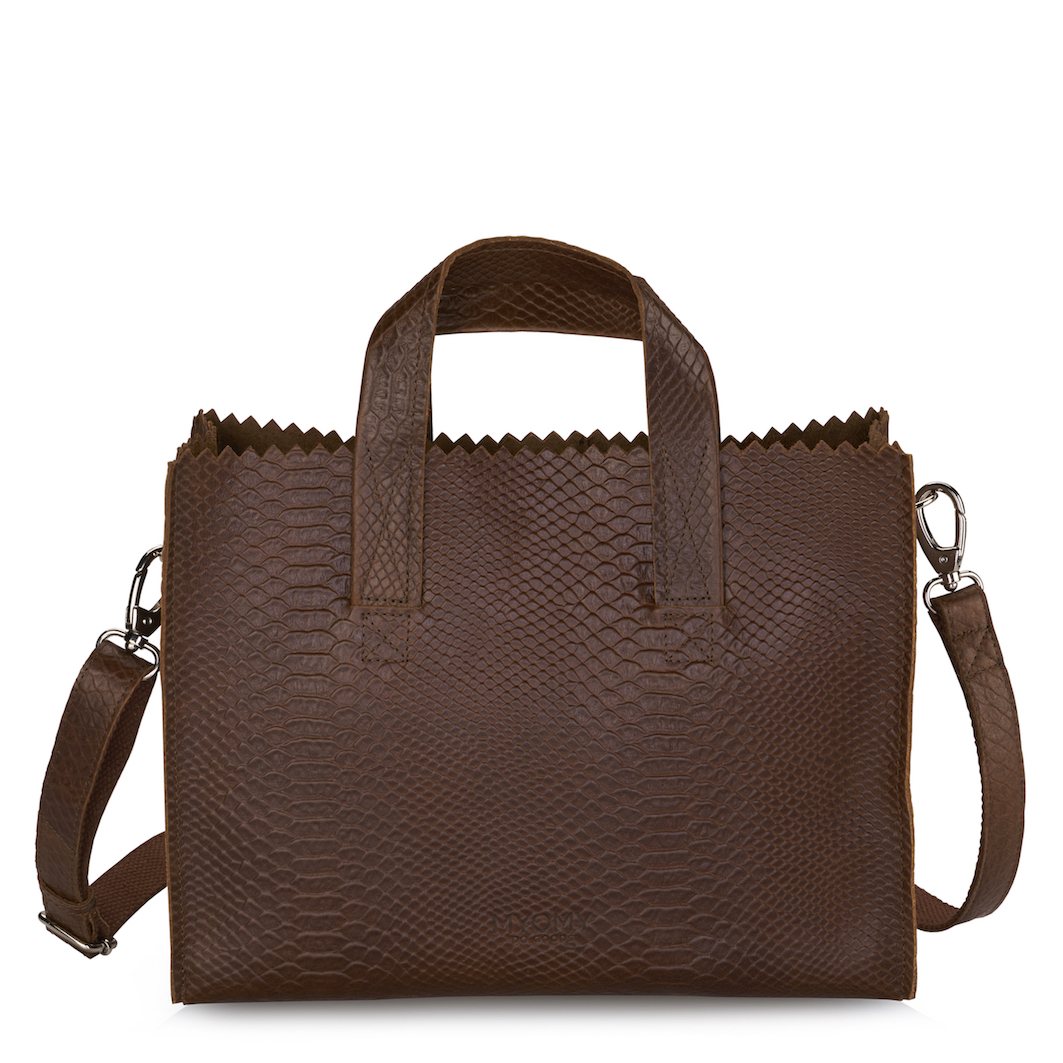 MY PAPER BAG Handbag cross-body - anaconda brandy