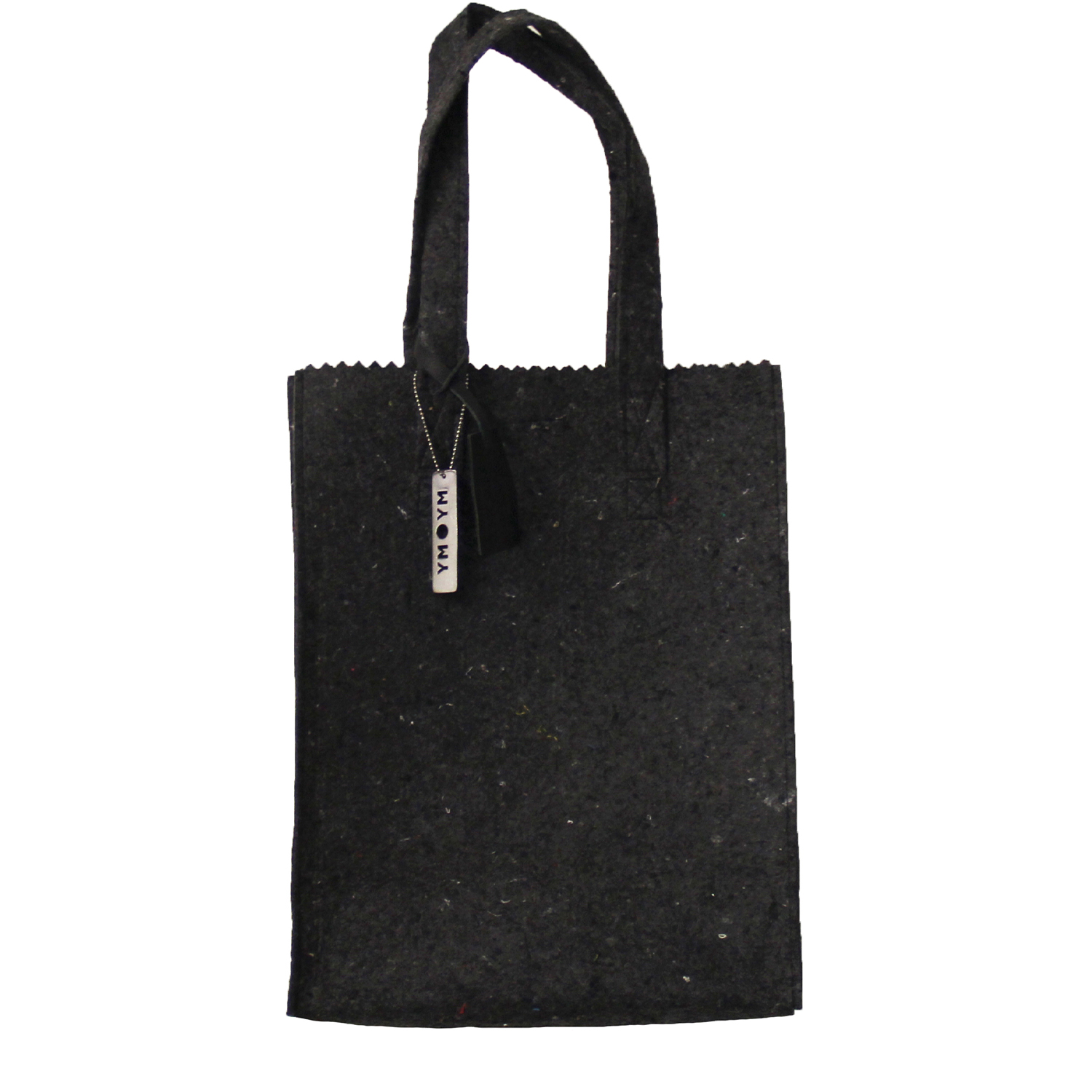 MY PAPER BAG Long handle – felt black fashion