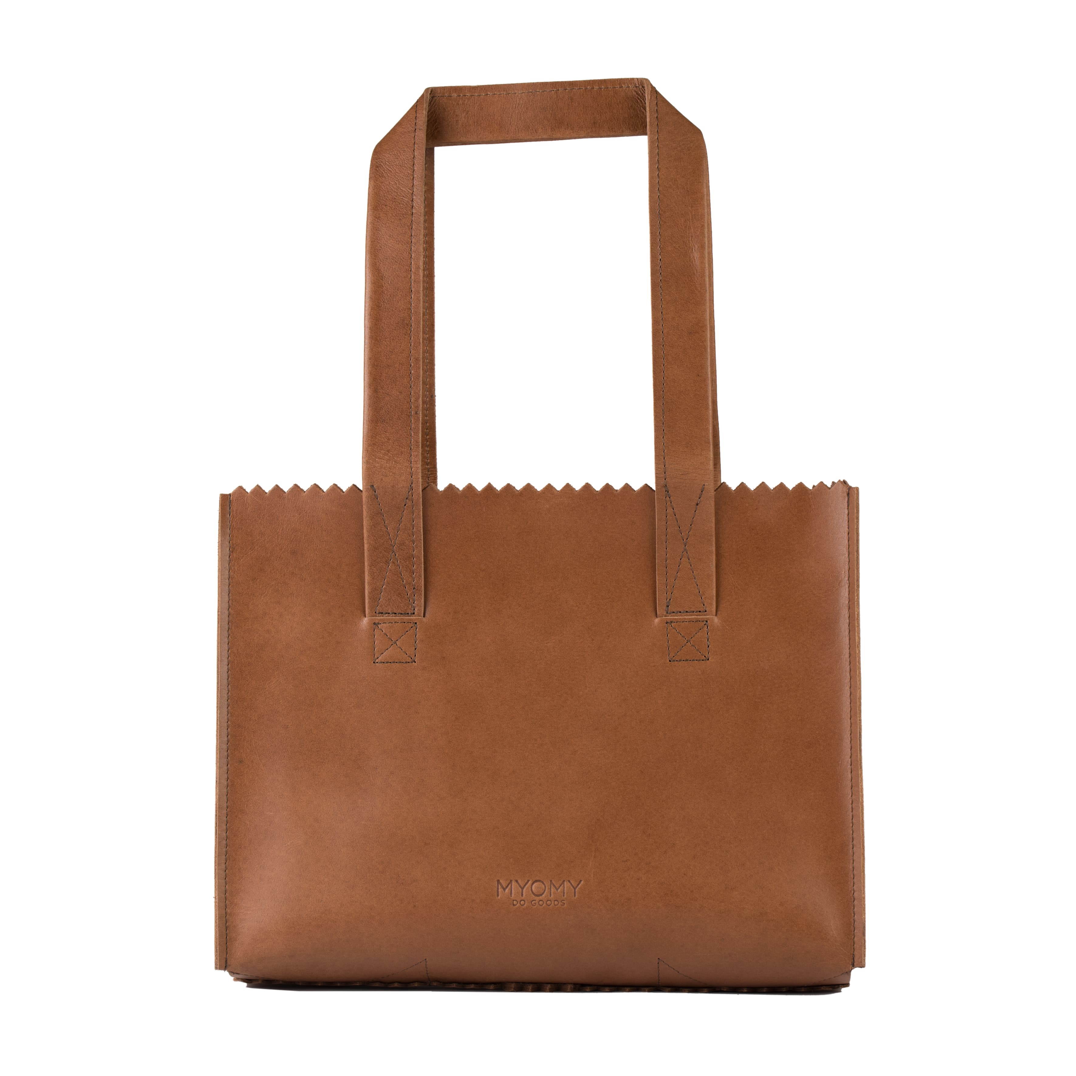 MY PAPER BAG Handbag – hunter waxy cognac