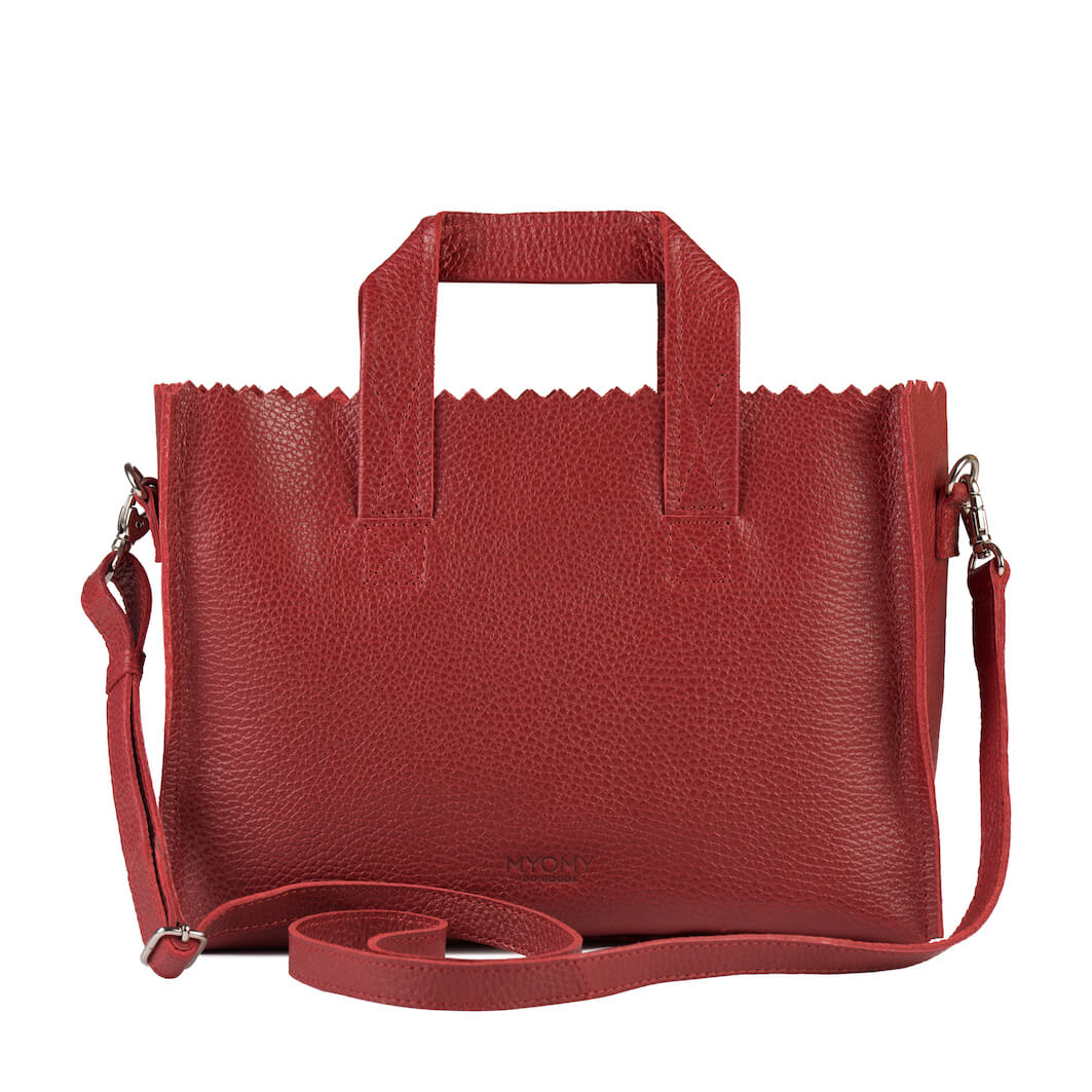 MY PAPER BAG Mini handbag cross-body – rambler red