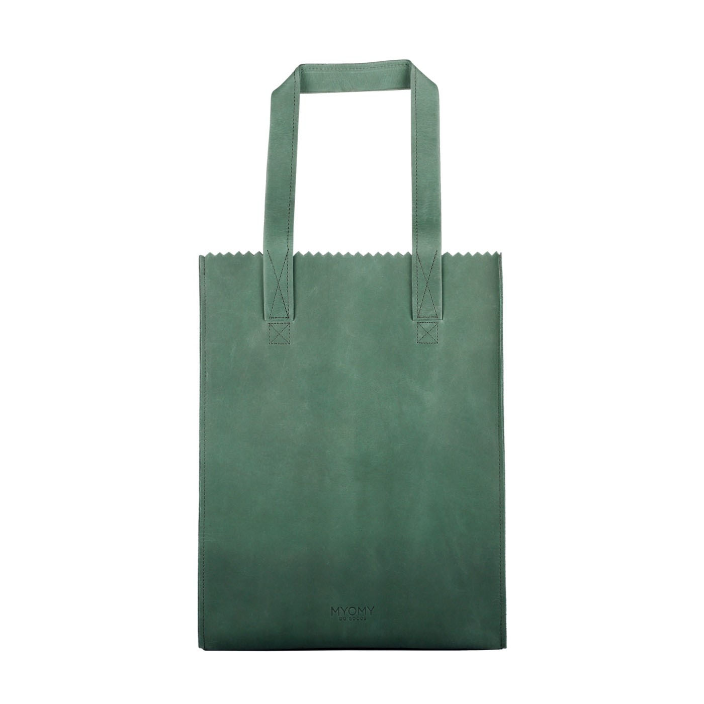 MY PAPER BAG Long handle zip – hunter forest green