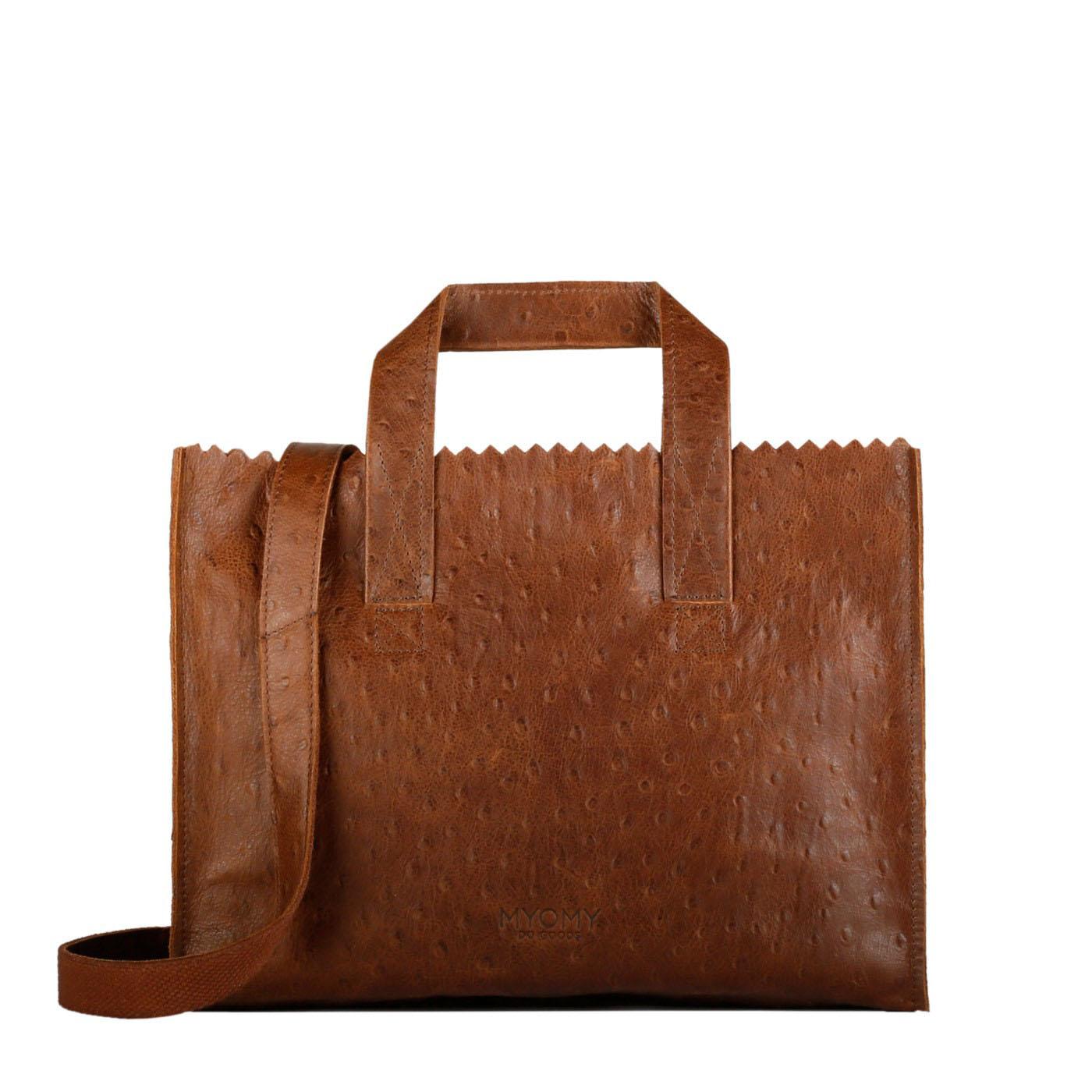 0abded0a27 MY PAPER BAG Handbag cross-body - ostrich brandy - MYOMY