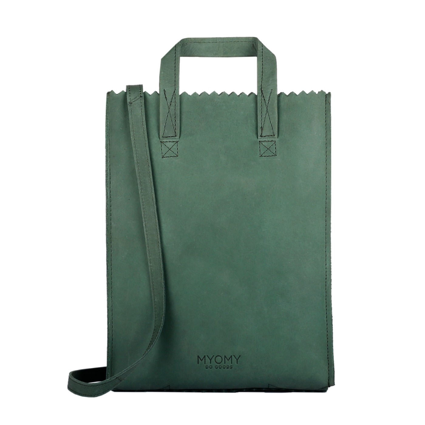 MY PAPER BAG Handy shorthandle - hunter forest green